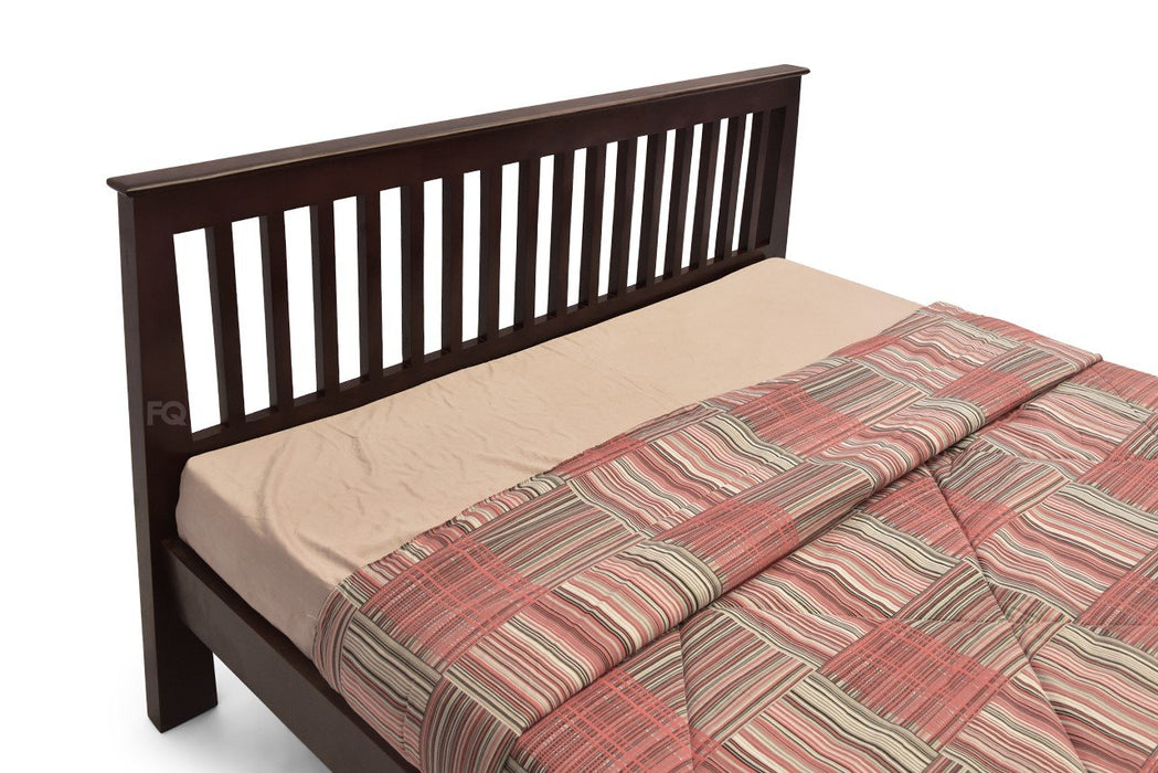 Charlie Queen Bed Without Storage in American Walnut Finish