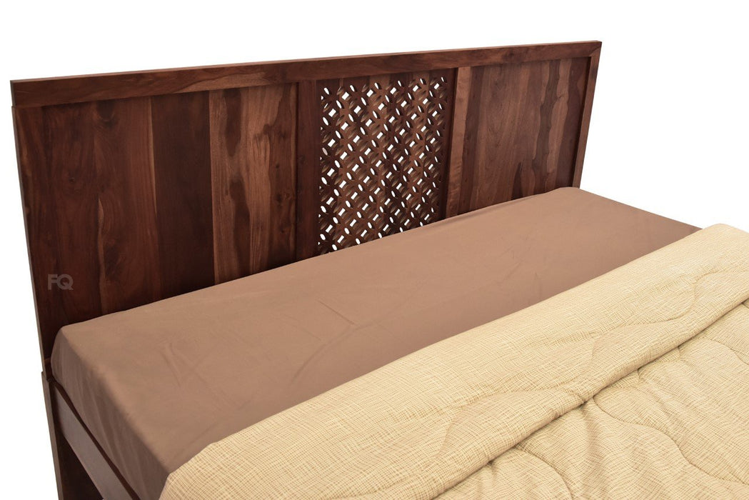 Zen Bed Without Storage in Teak Finish