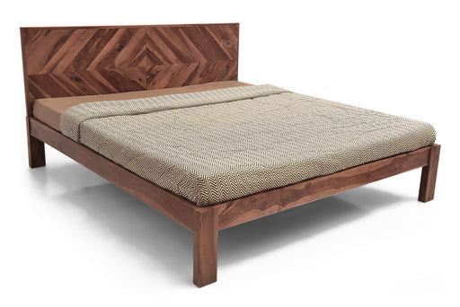 Milan Bed Without Storage in Teak Finish