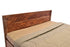 Leonardo Bed With Hydraulic Storage in Teak Finish