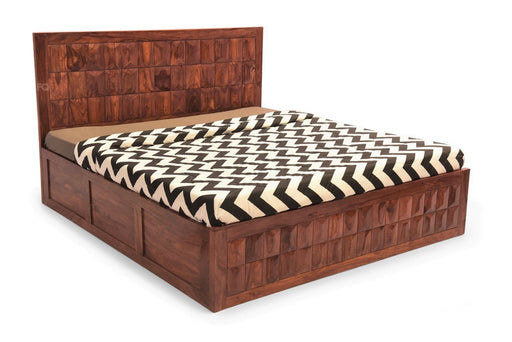 Newton Bed With Storage in Teak Finish
