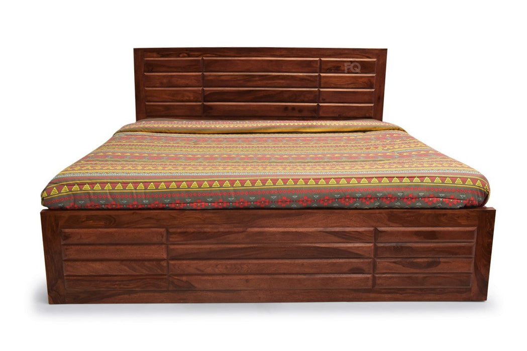 Chapman Bed With Hydraulic Storage in Teak Finish