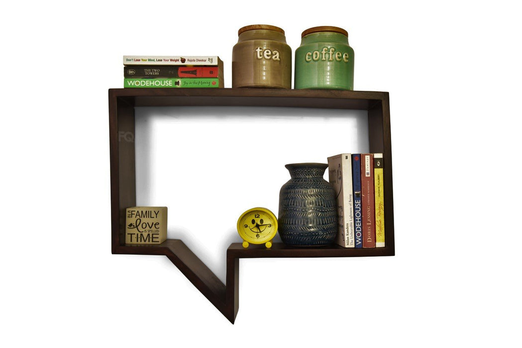 Howdy Wall Shelf in Mahogany Finish