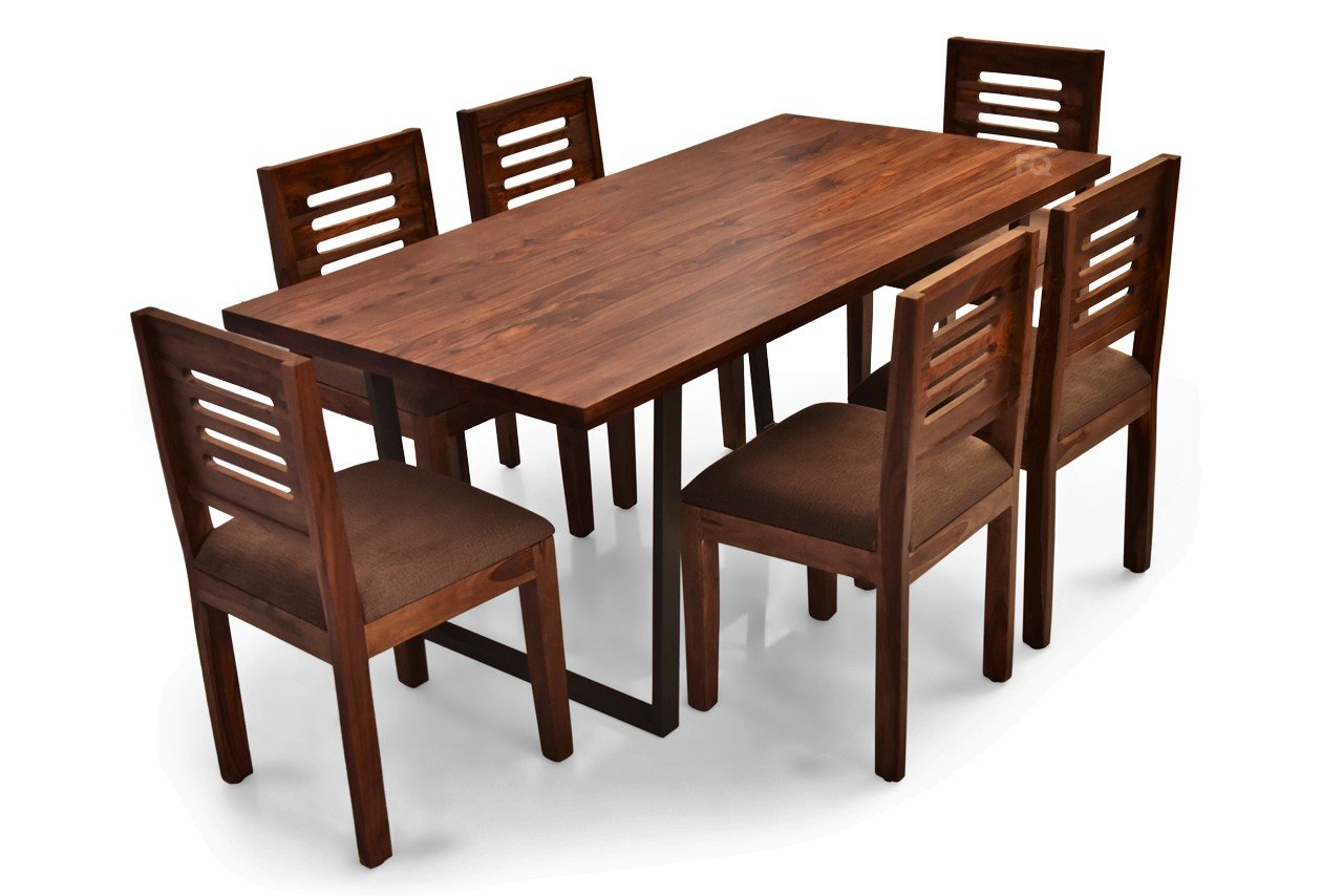 Chelsea - Richard 6 Seater Dining Set in Teak Finish
