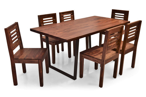 Chelsea - Ricky 6 Seater Dining Set in Teak Finish