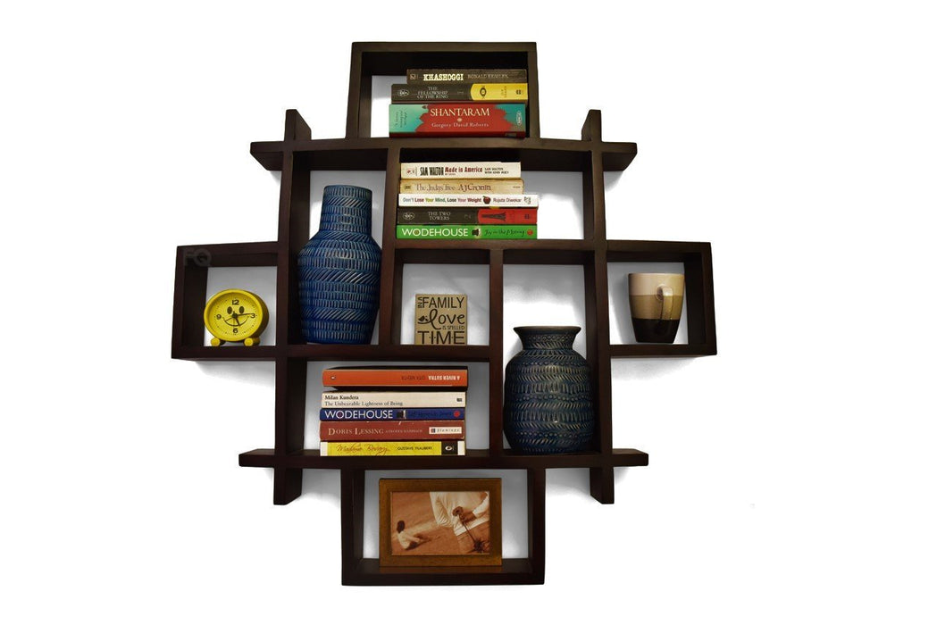 Rex wall shelf in Mahogany Finish
