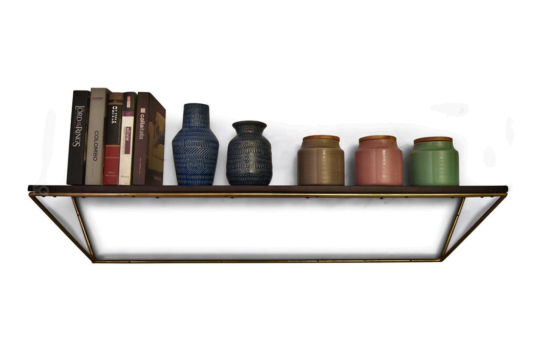 Eliza Wall Shelf in Mahogany Finish