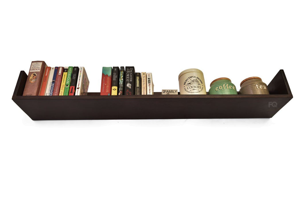 Ella Wall Shelf in Mahogany Finish