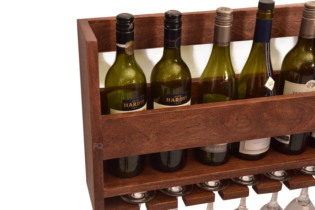 Chapman Wine Holder in Teak Finish