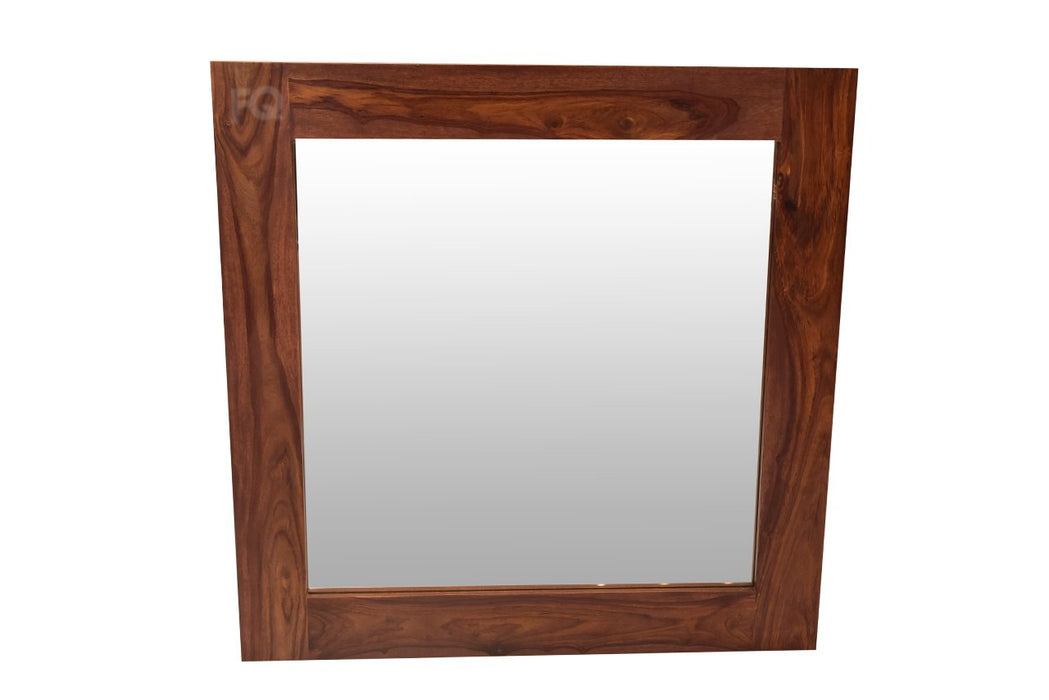 Oscar Small Mirror in Teak Finish