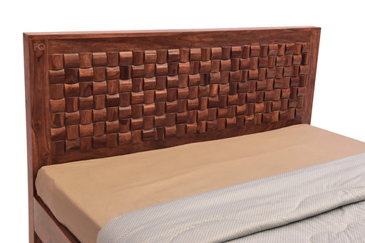 Newton Bed Without Storage in Teak Finish
