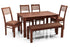 Leo - Viena 6 Seater Dining Set in Teak Finish