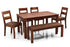 Leo - Bryan 6 Seater Dining Set in Teak Finish