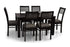 Leo - Viena 6 Seater Dining Set in Mahogany Finish