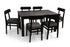 Leo - Robert 6 Seater Dining Set in Mahogany Finish