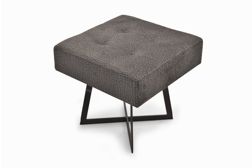 Toshi Square Sitting Stool in Grey Fabric