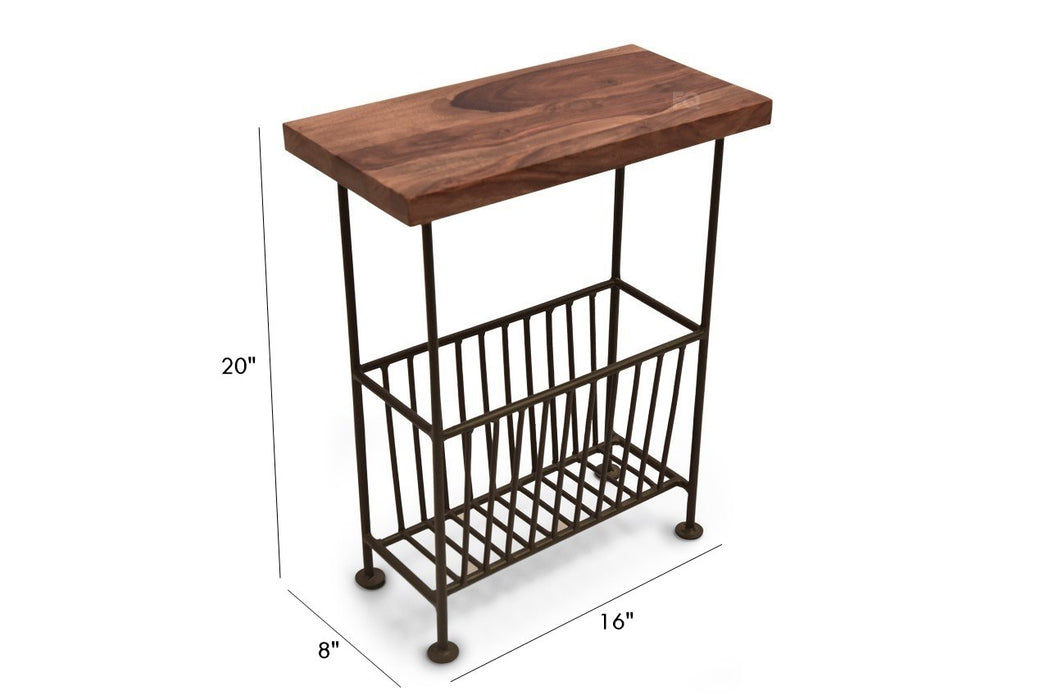 Ruby Magazine Stand in Teak Finish
