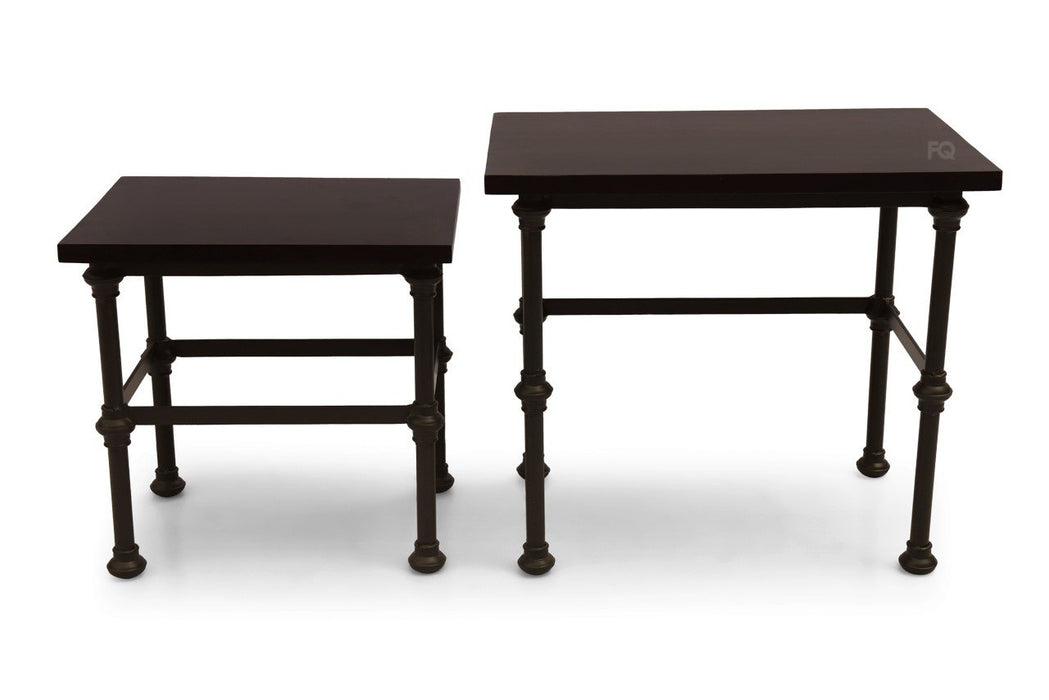 Bruno Nested Tables in Mahogany Finish