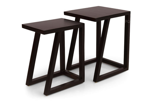 Zoey Nested Tables in Mahogany Finish