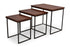 Jacob Square Nested Tables in Teak Finish