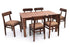 Leo - Robert 6 Seater Dining Set in Teak Finish