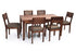 Zen 6 Seater Dining Table Set in Teak Finish