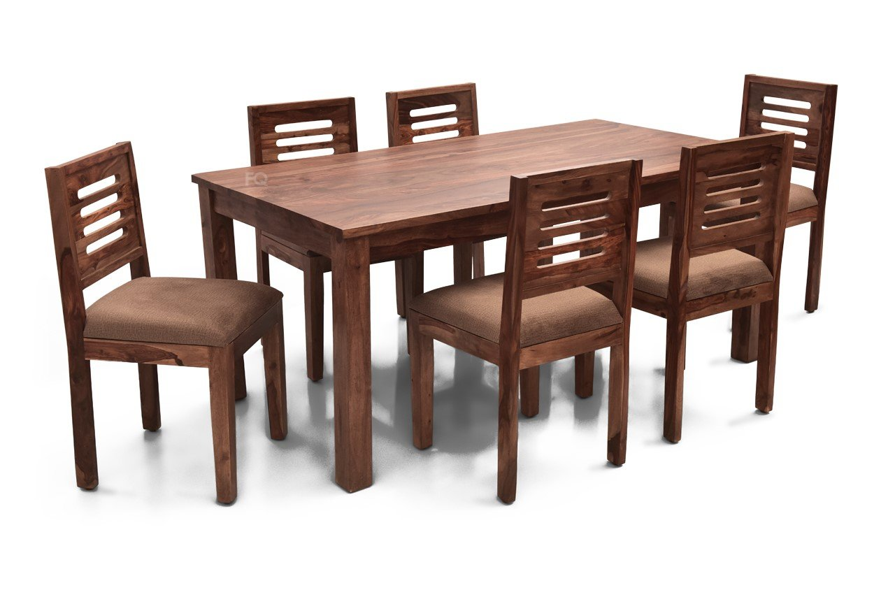 Leo XL - Richard 6 Seater Dining Set in Teak Finish