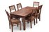 Leo XL - Viena 6 Seater Dining Set in Teak Finish
