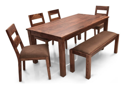 Leo XL - Bryan 6 Seater Dining Set in Teak Finish