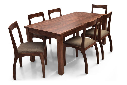 Leo XL - Brad 6 Seater Dining Set in Teak Finish