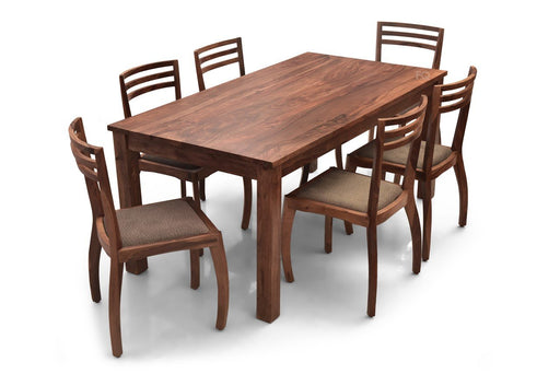 Leo XL - Aspen 6 Seater Dining Set in Teak Finish