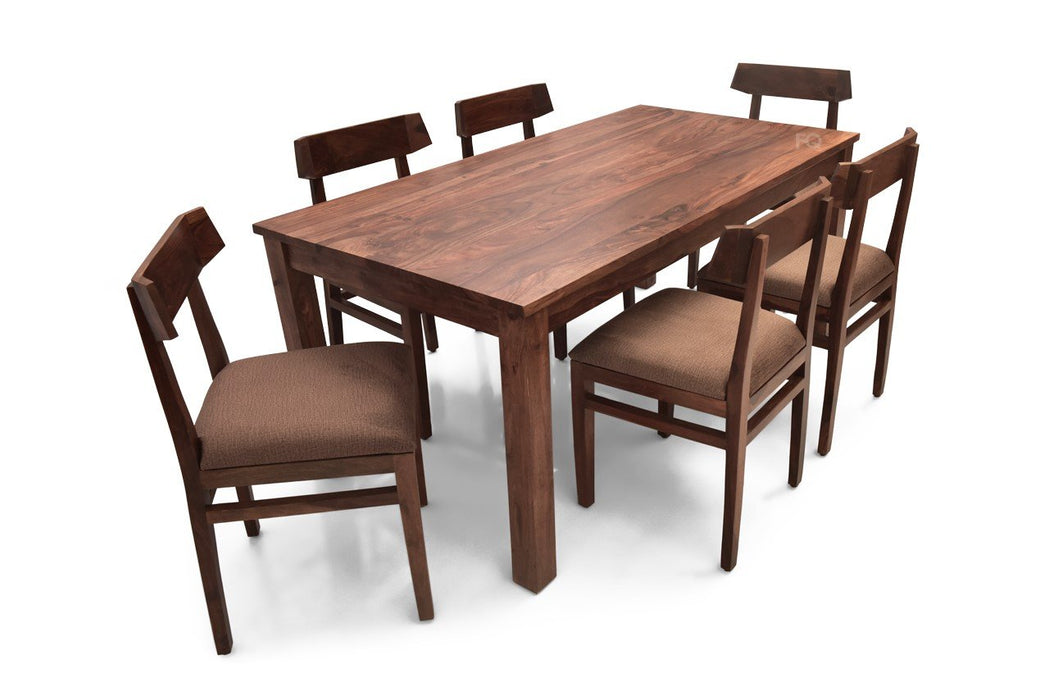 Leo XL - Robert 6  Seater Dining Set in Teak Finish