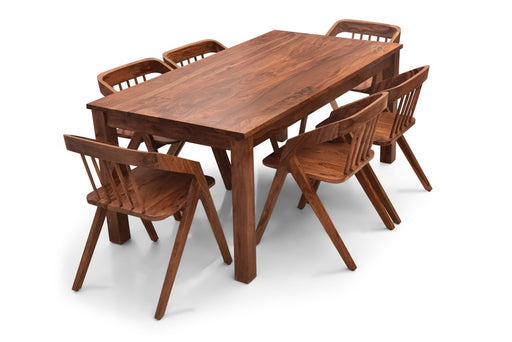 Leo XL - Skye 6 Seater Dining Set in Teak Finish