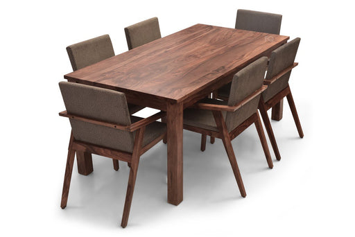 Leo XL - Max 6 Seater Dining Set in Teak Finish