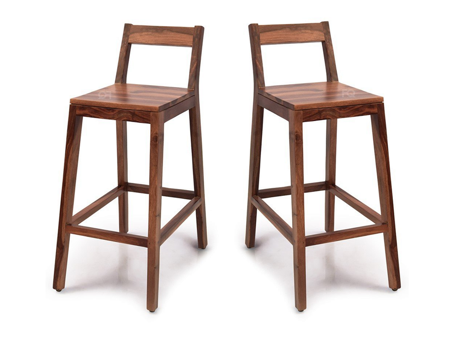 Mark Bar Chair in Teak Finish