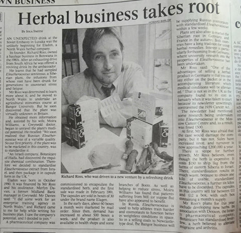 The Times - Mr Richard Ross founder of Eladon Ltd and Elagen
