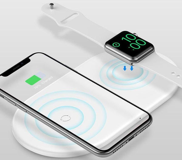 Dualist: Dual Wireless Charge Pad (iPhone & Apple Watch)