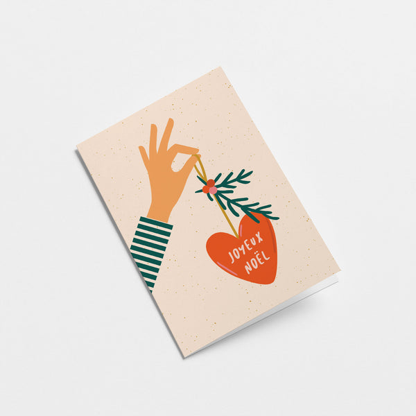 Joyeux Noël Greeting Card by Graphic Factory