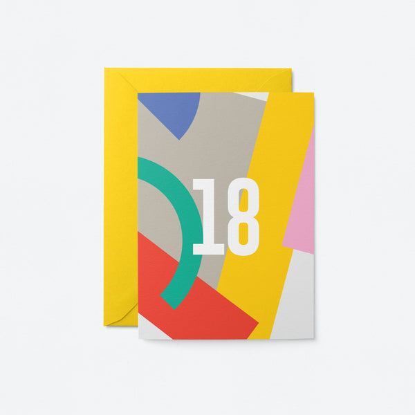 18 Birthday Greeting Card by Graphic Factory