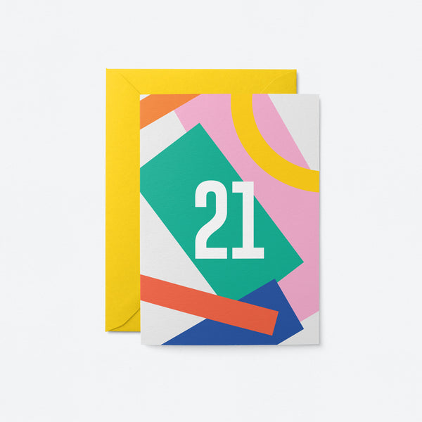 21 Birthday Greeting Card by Graphic Factory