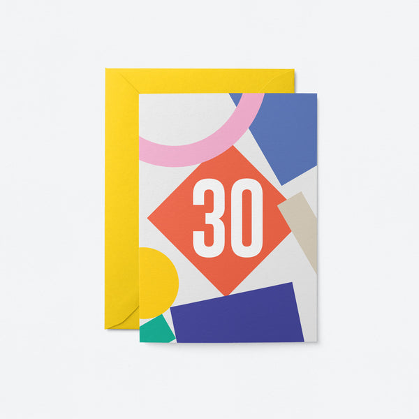 30 Birthday Greeting Card by Graphic Factory