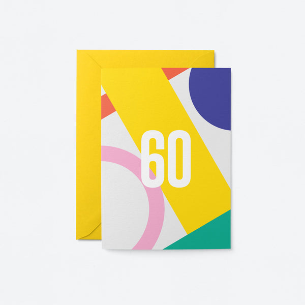 60 Birthday Greeting Card by Graphic Factory
