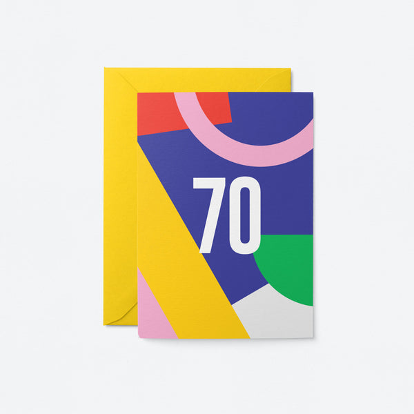 70 Birthday Greeting Card by Graphic Factory
