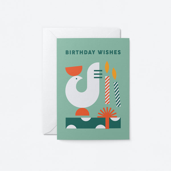 Birthday Wishes Greeting Card by Graphic Factory