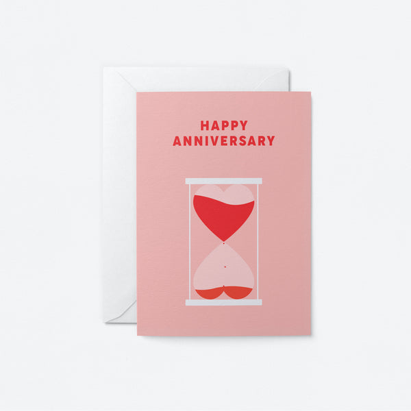 Happy Anniversary Greeting Card by Graphic Factory