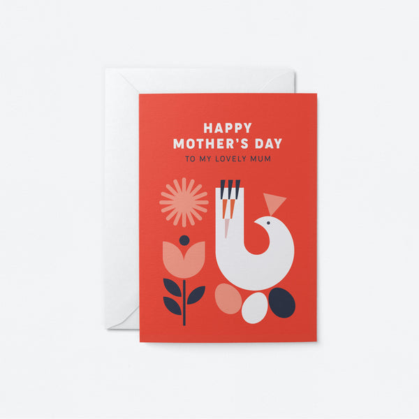 Happy Mothers Day Greeting Card by Graphic Factory