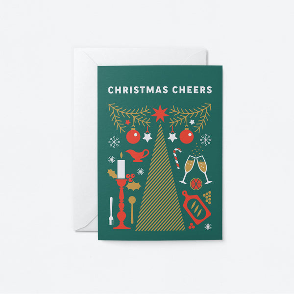 Christmas Cheers Greeting Card by Graphic Factory