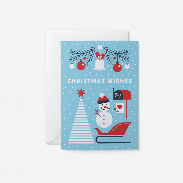 Christmas Wishes Greeting Card by Graphic Factory