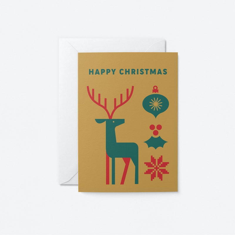Happy Christmas Greeting Card by Graphic Factory