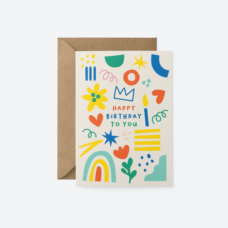 Happy Birthday Greeting Card by Graphic Factory